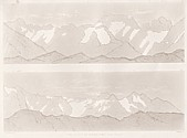 Planches II et III Outlines sketches of High Alps of Dauphiné