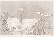Planche XII Outlines sketches of High Alps of Dauphiné